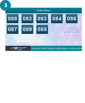 OrderReady mobile app - the best digital order number